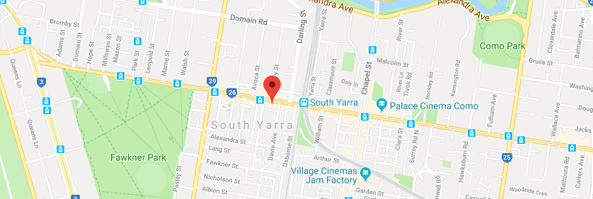 122 Toorak Rd South Yarra map